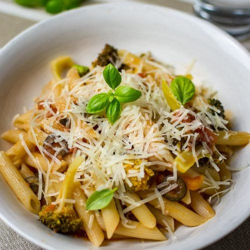 Vegetarian Pasta Puttanesca