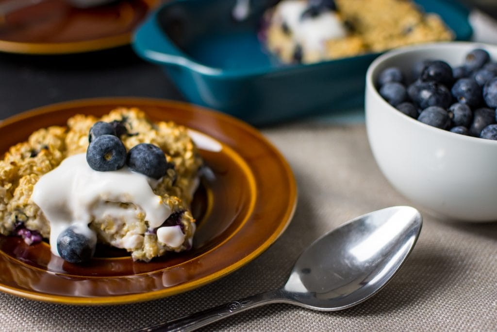 Blueberry Baked Oats