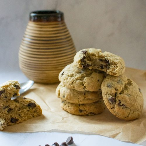 Vegan Rye Chocolate Chip Cookies