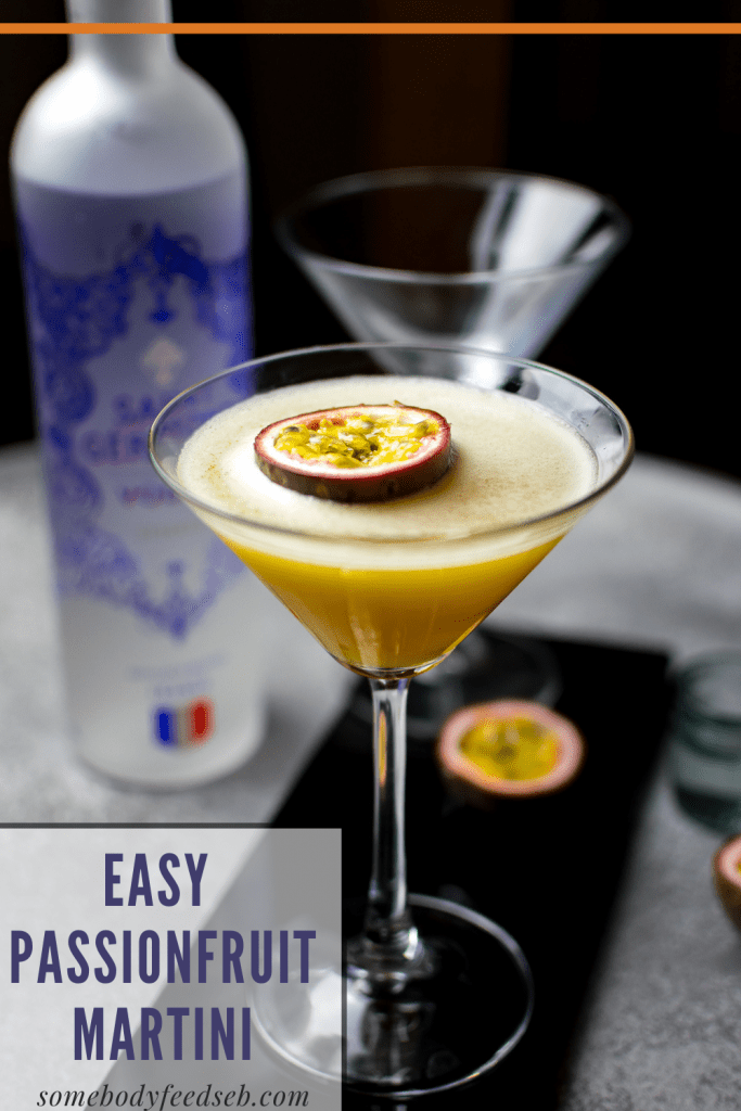 Easy Passionfruit Martini