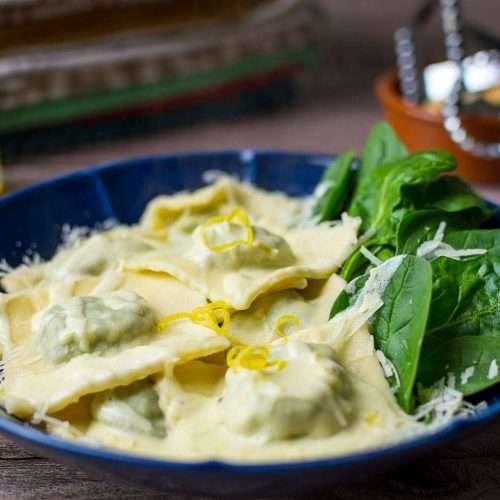 Spinach & Cream Cheese Ravioli