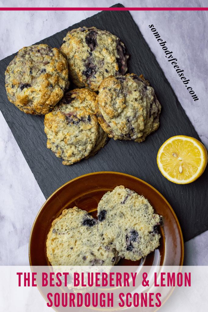Blueberry Sourdough Scones