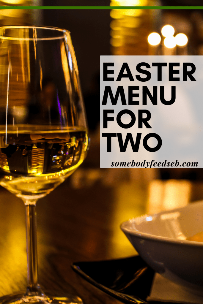 easter menu for two