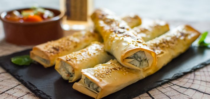 Goat's Cheese & Spinach Rolls
