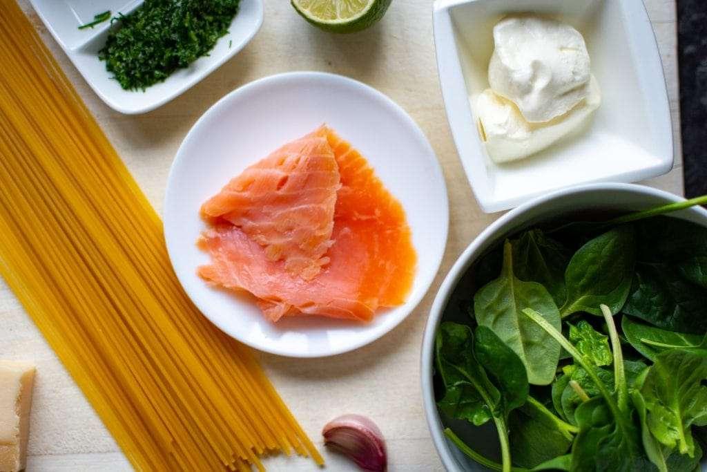 Smoked Salmon & Spinach Pasta