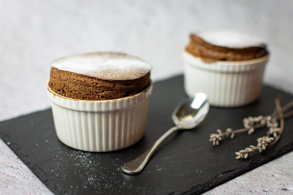 Lavender Chocolate Souffle