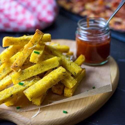 Baked Polenta Chips