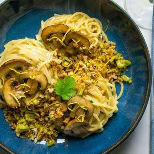 Mushroom & Blue Cheese Pasta