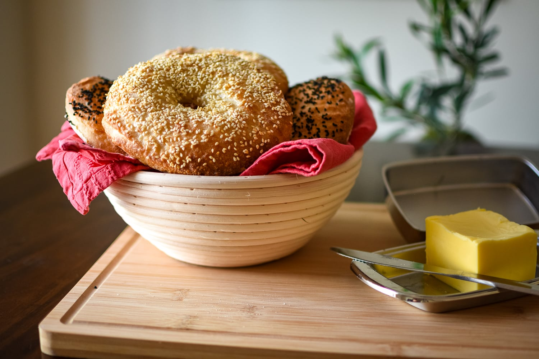 Easy Sourdough Bagels