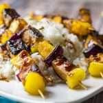 tofu & pineapple skewers