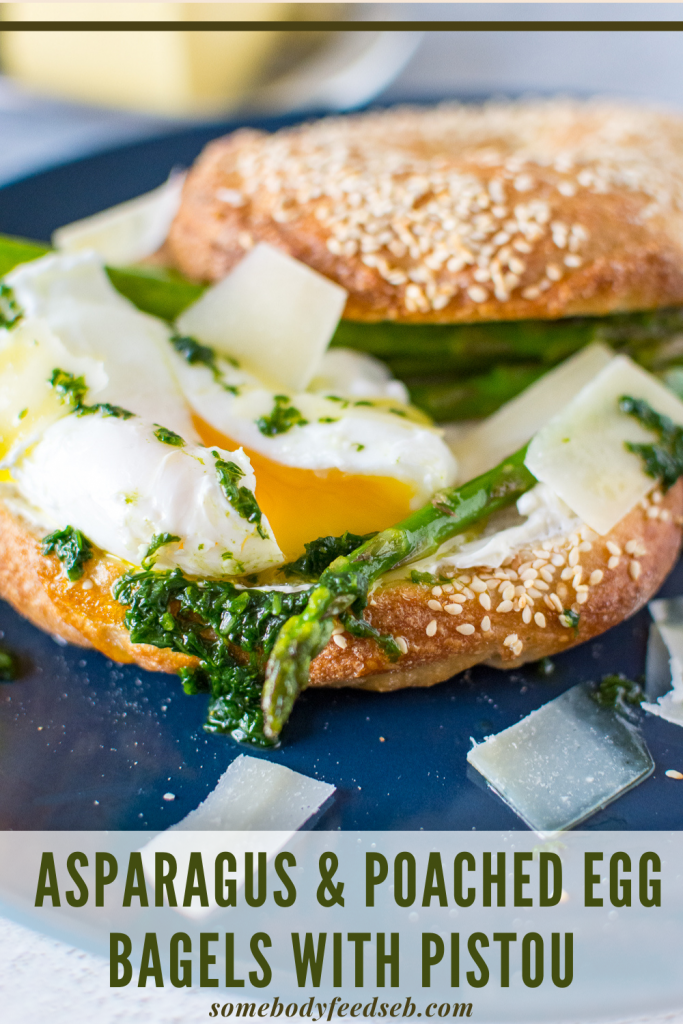 Bagels with Asparagus