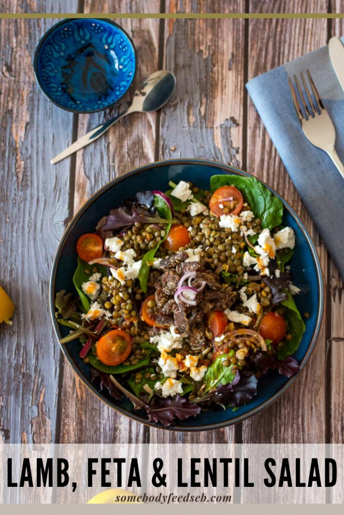 Lamb, Feta and Lentil Salad