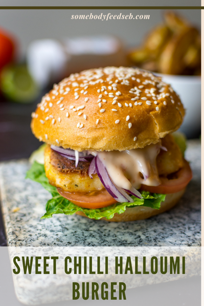 Sweet Chilli Halloumi Burger