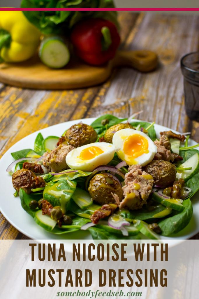 Tuna Nicoise with mustard